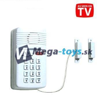 ALARM (Alarm s klávesnicou a štyrmi funkciami alarmu pre zabezpečenie vášho domu alebo objektu.)