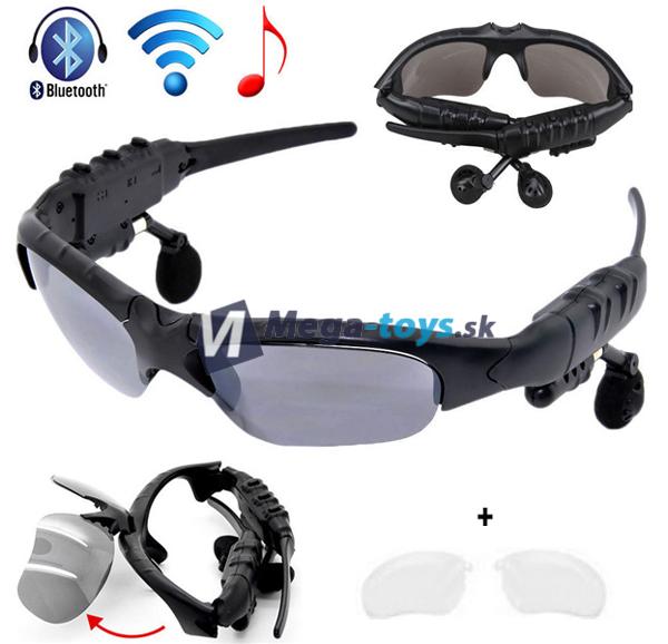 88fa9d0e1 Slnečné okuliare s Bluetooth mp3 prehrávačom a handsfree   MEGA-TOYS ...