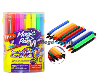 Magic pens - magické fixky - sada 20ks