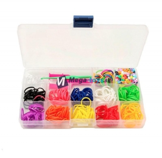 Loom Bands - set 200 ks bez pletení stave